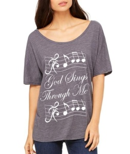 God Sings Through Me oversized tee